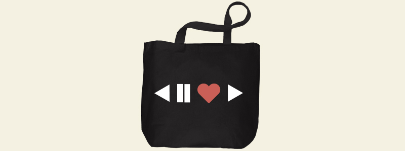 Create your tote bag with heart